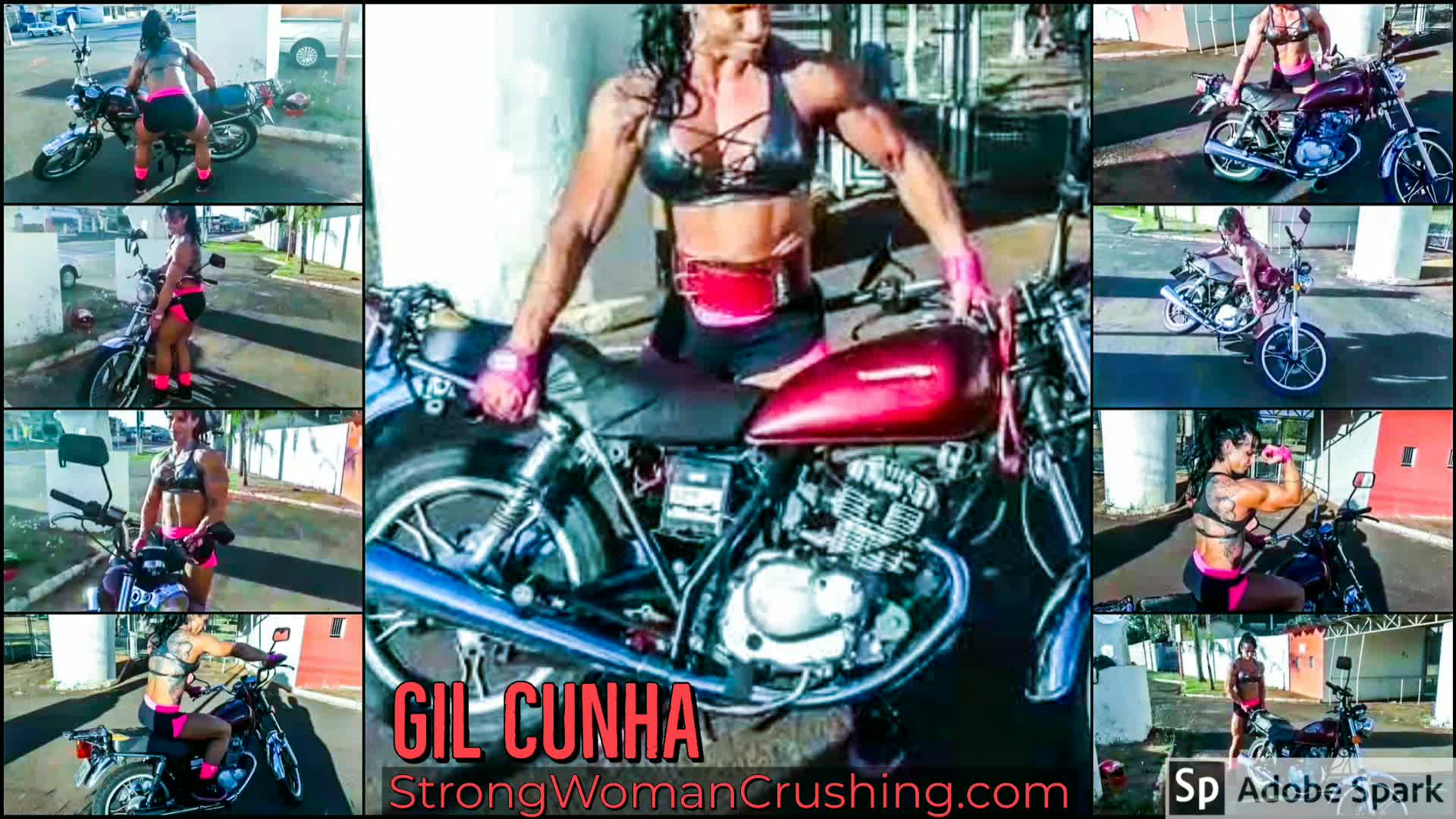 Gil Cunha Lifts A Heavy Motorcycle